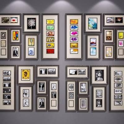 现代, 挂画, 装饰画, 照片墙, 北欧
