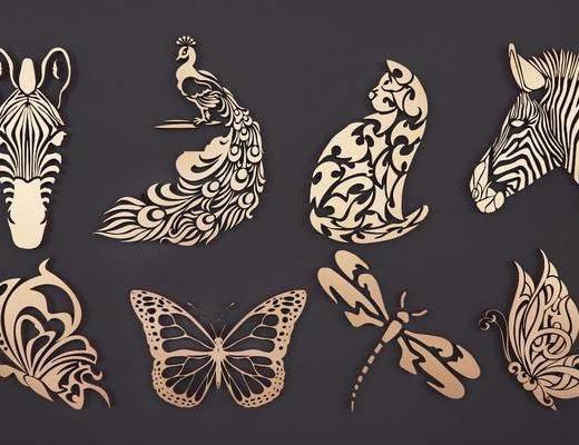 动物镂花, 现代, 双十一, 雕花