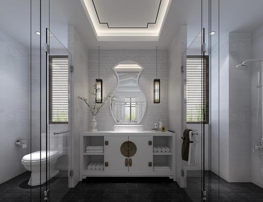 卫生间, 洗手台, 便器
