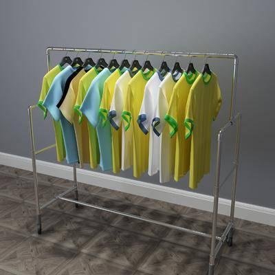 现代衣架, 衣架, 衣服