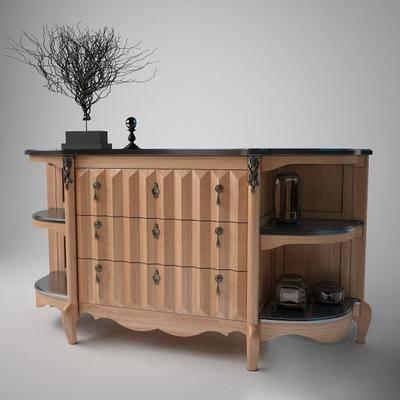 边柜, 储物柜, 装饰柜, 摆件, 现代