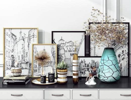 摆件, 装饰品, 装饰画, 花瓶