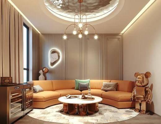 现代, 休闲室, 工装