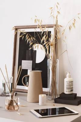 挂画, 饰品, 花瓶, 植物