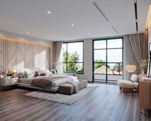 现代主卧室