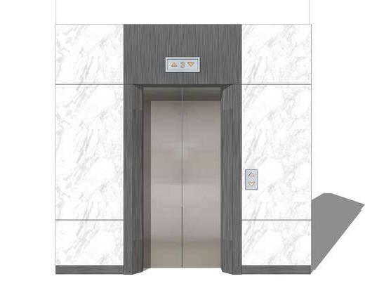 电梯厅, 电梯间
