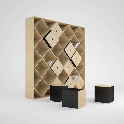 收纳柜, 装饰柜, 现代, 储物柜