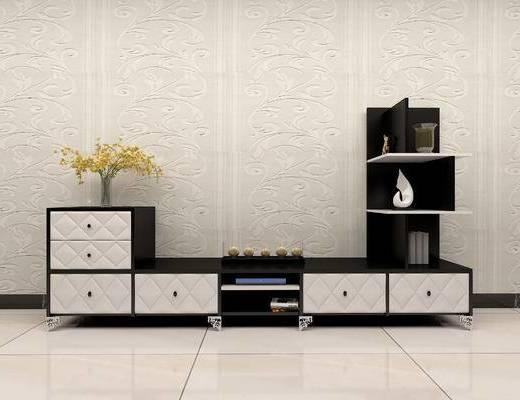 现代客厅电视柜
