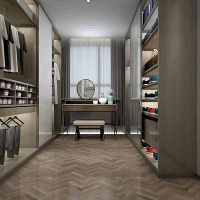 现代, 衣帽架, 衣柜, 衣架, 服装, 服饰, 梳妆台, 凳子