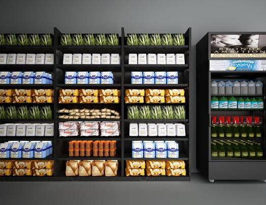 商品展架, 置物架, 冰柜, 冰箱, 商品