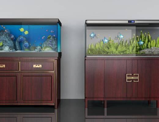 鱼缸组合, 浴缸, 中式