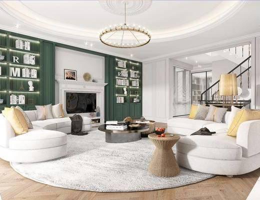美式, 客厅, 家装