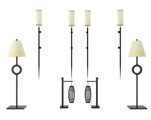 壁灯, 落地灯, 台灯, 现代