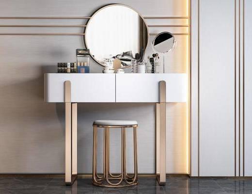 梳妝臺, 桌椅組合