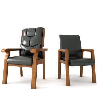 办公椅, 单人椅, 中式
