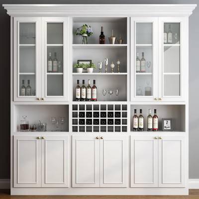 酒柜, 欧式, 简欧, 木柜