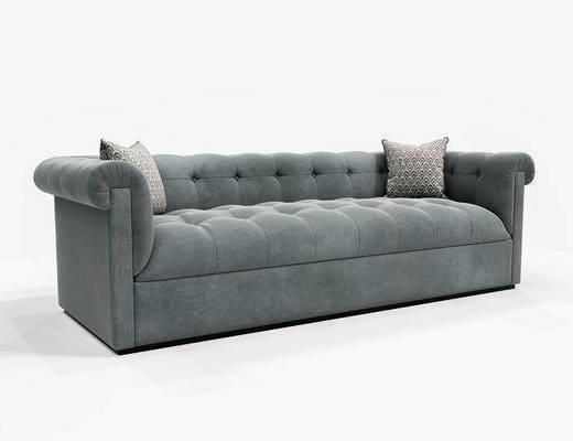 美式沙发, 现代沙发, 双人沙发, 沙发