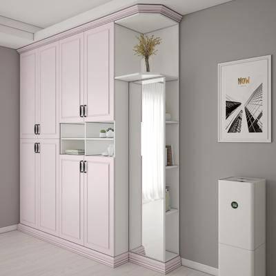 衣柜, 衣橱, 简欧衣柜, 摆件, 储物柜, 简欧