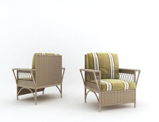 藤制沙发, 户外椅, 现代