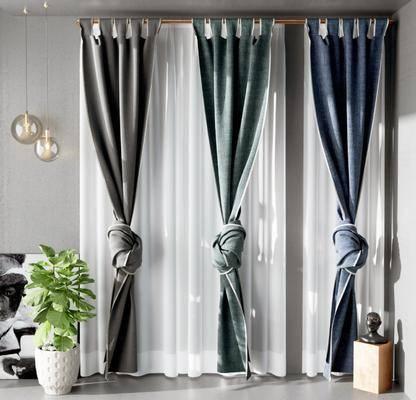 现代窗帘, 窗帘, 窗纱