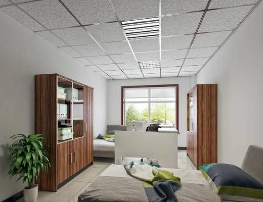 矿棉板吊顶, 办公室, 休息室, 财务室, 办公区现代