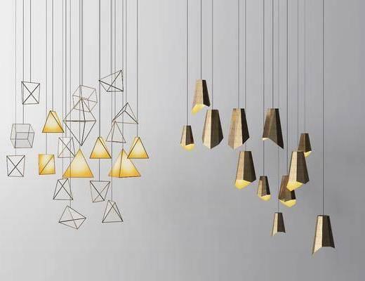 吊燈組合, 現代