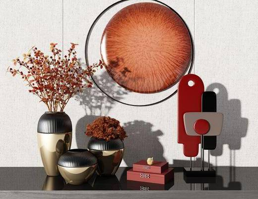 装饰品, 摆件组合, 花瓶植物, 盆栽