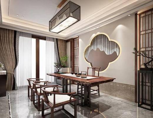 桌椅組合, 吊燈, 茶具組合, 墻飾, 邊柜, 擺件組合, 裝飾品