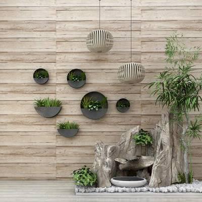 假山, 竹子, 吊灯, 墙饰, 园林小品, 园艺小品, 室外摆件, 植物石头