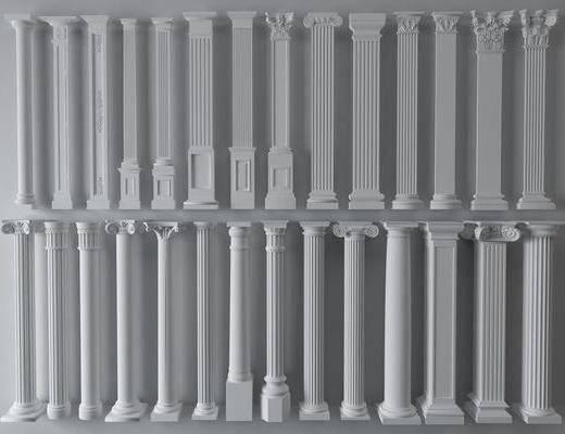 柱子组合, 欧式