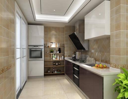 现代厨房, 厨房, 厨柜