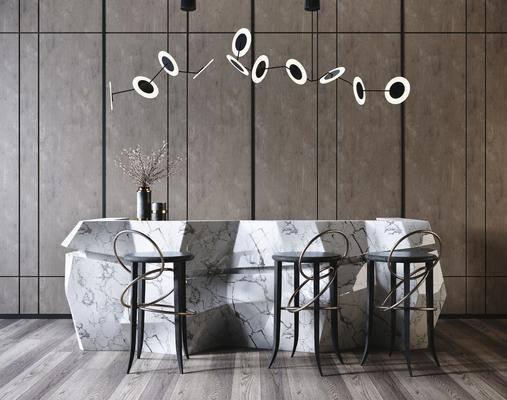 现代大理石吧台, 吧椅