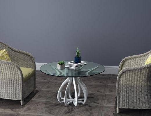 现代藤椅, 藤椅, 单椅