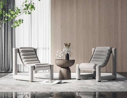 单椅, 躺椅, 休闲椅, 户外椅, 茶几, 植物