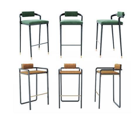 新中式吧台椅, 新中式吧椅, 新中式吧凳