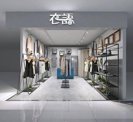 服装店, 模特, 衣架, 装饰架, 服饰, 现代