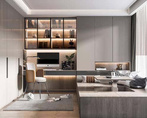 现代, 榻榻米, 卧室, 家装