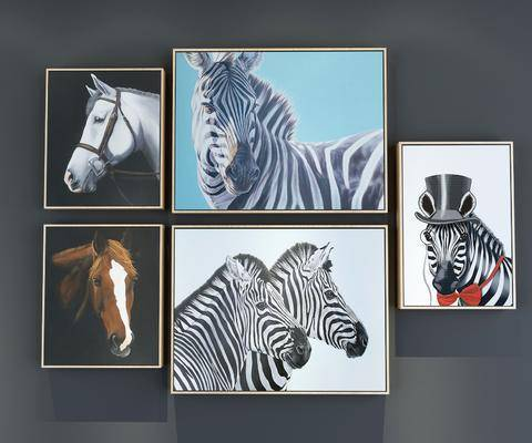 装饰画, 挂画, 动物画, 组合画, 现代