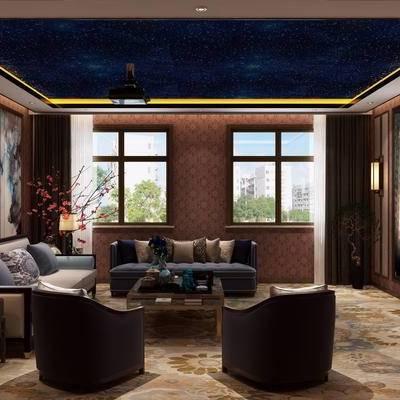 影音, 沙发组合, 沙发茶几组合, 投影, 音响, 沙发