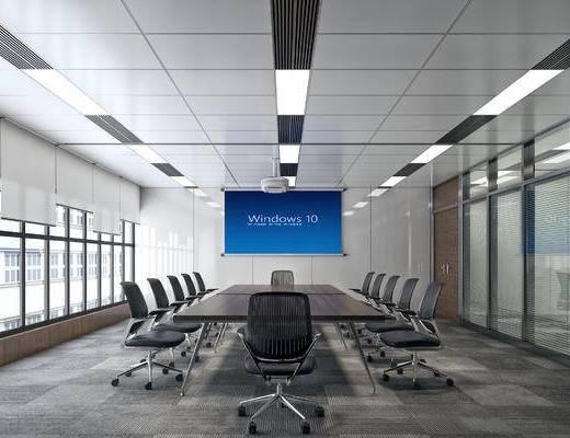现代简约, 小型会议室, 写实, 现代