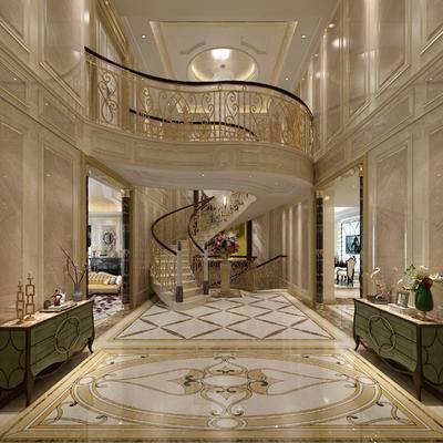 欧式, 古典, 楼梯间