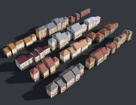 建筑, 建筑配楼, 楼房, 简欧住宅, 建筑外观
