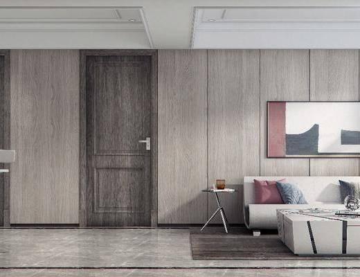 娱乐室, 休息室, 现代娱乐室, 桌椅组合, 沙发, 茶几, 吧台, 吧椅, 现代
