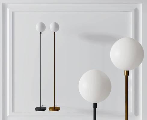 现代金属球形落地灯