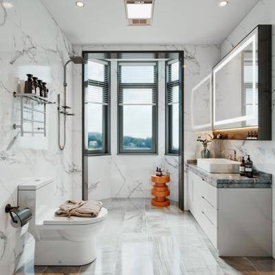 卫浴, 洗浴组合, 浴缸, 卫生间, 洗手盆