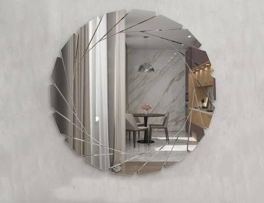 欧式简约, 简约装饰镜, 装饰镜