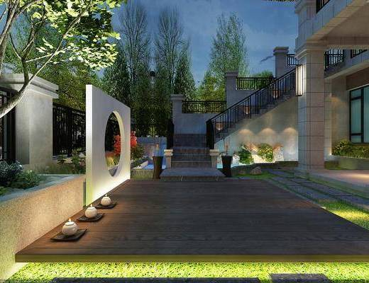 庭院, 花园庭院, 中式