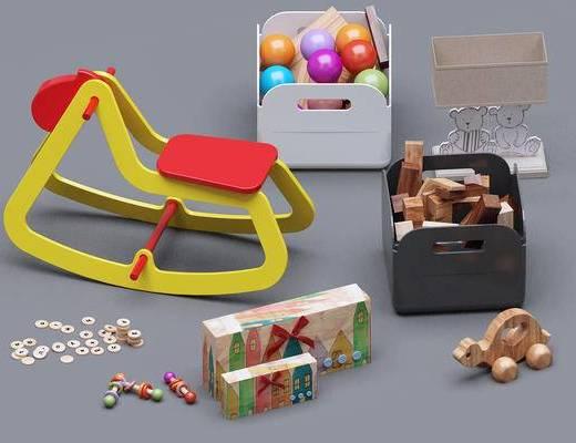 儿童玩具, 玩具, 木马, 玩具球