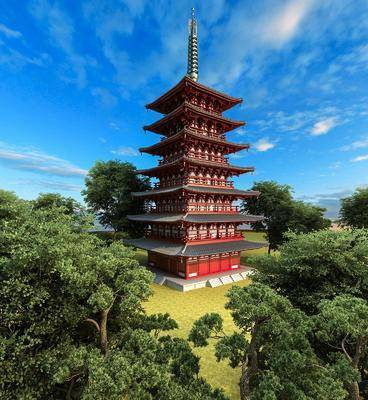 中式, 古建, 寺庙