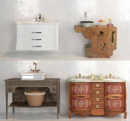 洗手台, 洗手盆, 柜架组合